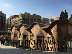 Sagrada Familia Schools that Gaudi designed for construction workers' and underprivileged children. The schools have sunrise and sunset classrooms where children could study in the different times of the day. What a genius.