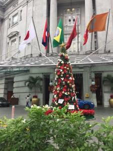 The Fullerton Hotel feeling festive